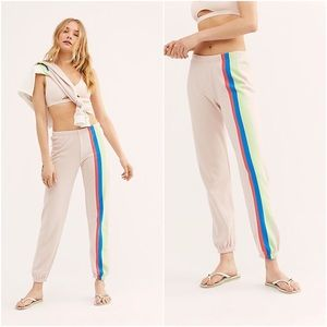 Wildfox Mellow Stripes Easy Sweatpants Large